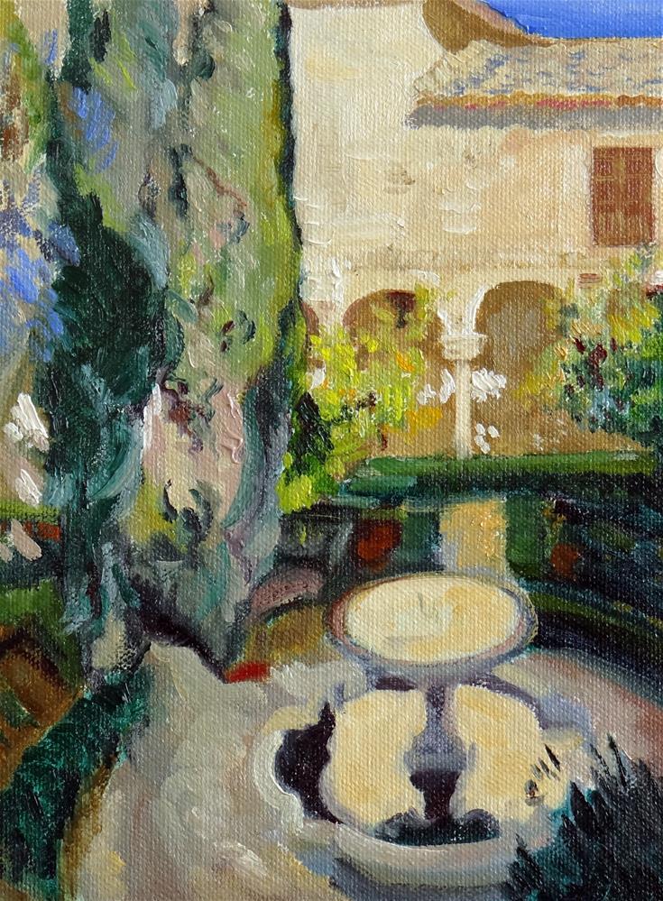 """Sorolla's Spanish Garden"" original fine art by Nancy Paris Pruden"