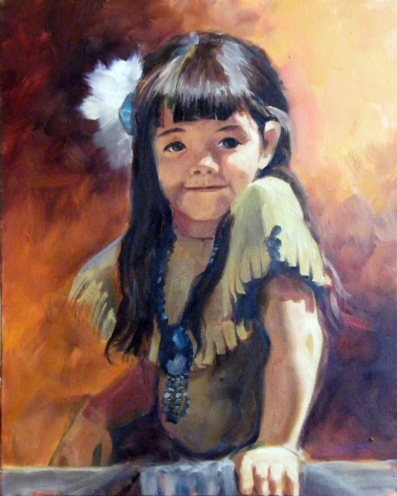 """Indian Girl"" original fine art by Donna Whatcott Parsons"