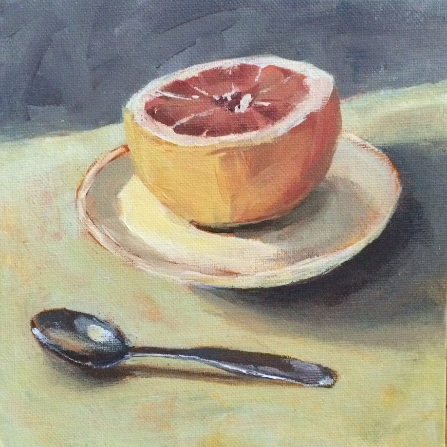 """Grapefruit Breakfast"" original fine art by Shannon Bauer"