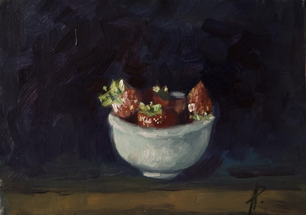 """'Strawberries'"" original fine art by Andre Pallat"