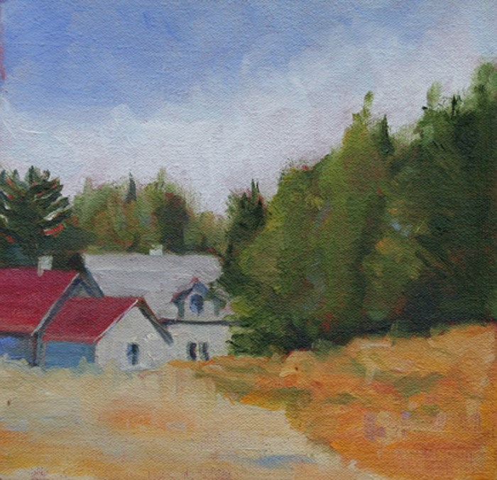 """At the Cottage"" original fine art by Maria McNitt"