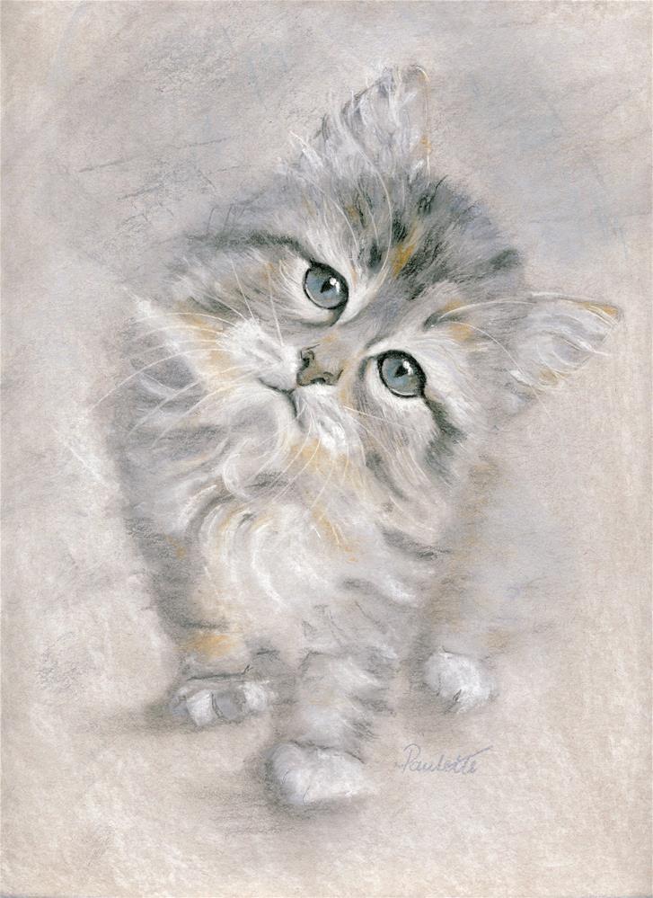"""Kitten Cuteness"" original fine art by Paulette Farrell"