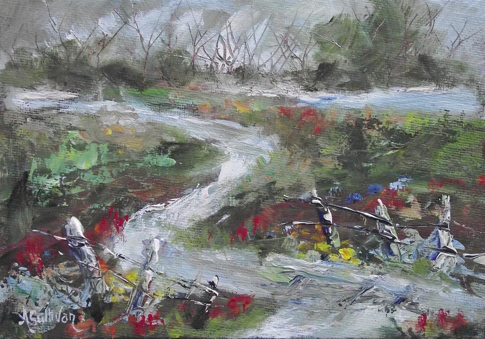 """Lazy Mountain Water"" original fine art by Angela Sullivan"