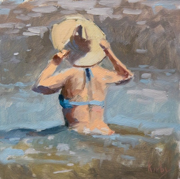"""The Hat"" original fine art by Randall Cogburn"