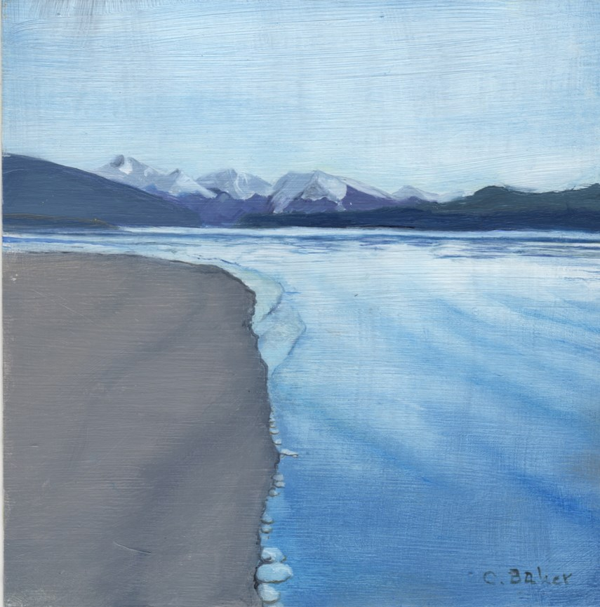"""Icy Passage"" original fine art by Carole Baker"