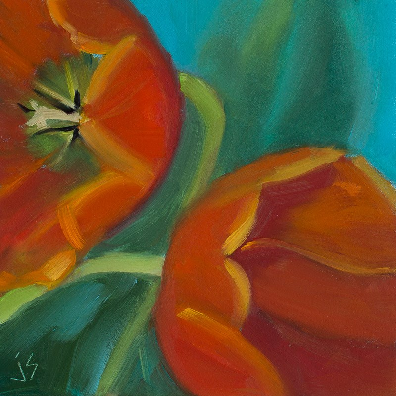 """Tulip Dance"" original fine art by Johnna Schelling"