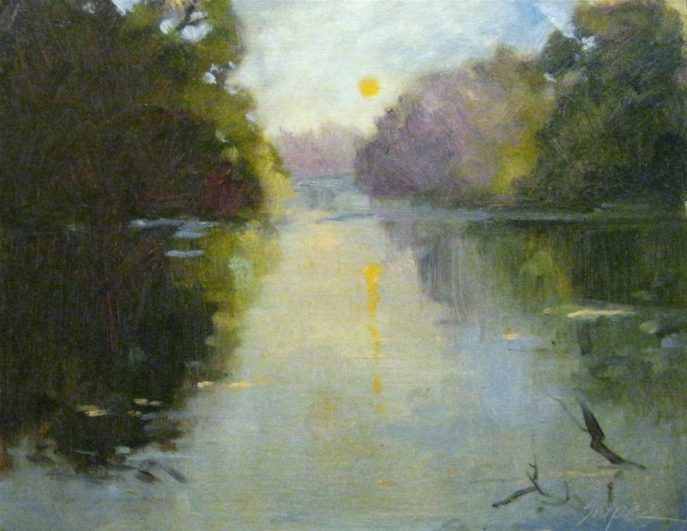 """Sun Reflecton"" original fine art by Connie Snipes"