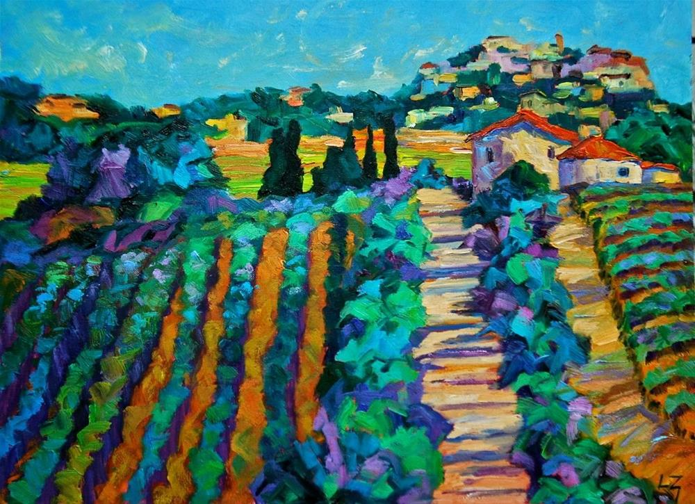 """Montepulciano Vineyard"" original fine art by Liz Zornes"