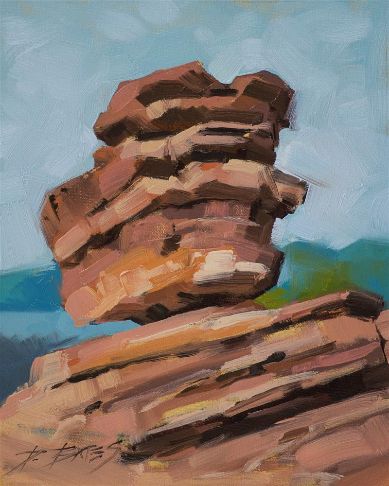 """Balanced Rock, Garden of the Gods"" original fine art by David Bates"