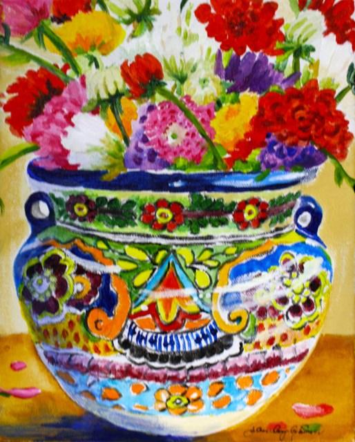 """Mexican Pot"" original fine art by JoAnne Perez Robinson"