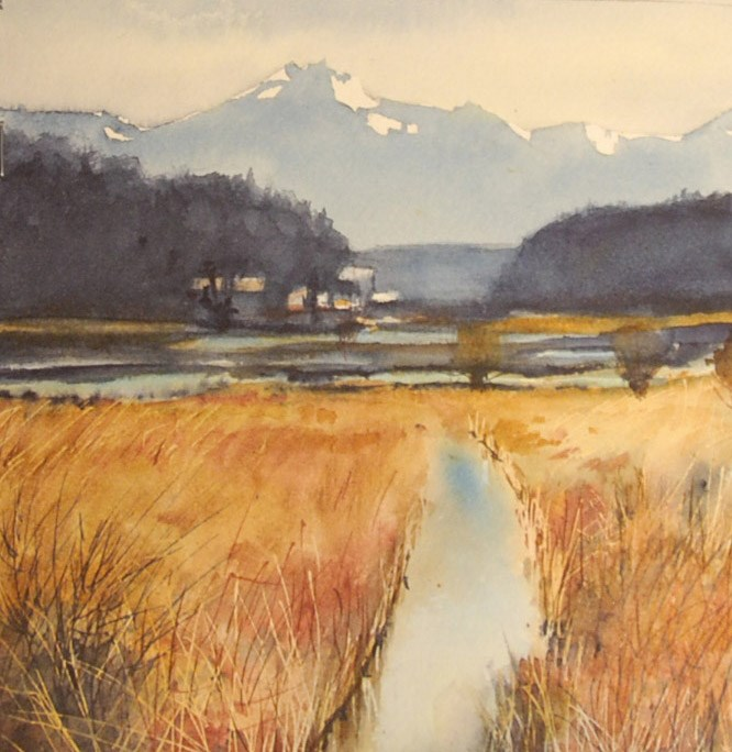 """Billy Frank Jr. Nisqually Wildlife Refuge"" original fine art by Mary Anderson"