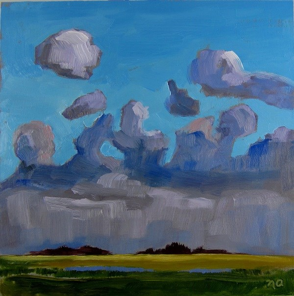 """It Poured"" original fine art by Nicki Ault"