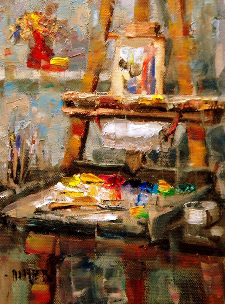 """""""My Easel"""" original fine art by Julie Ford Oliver"""