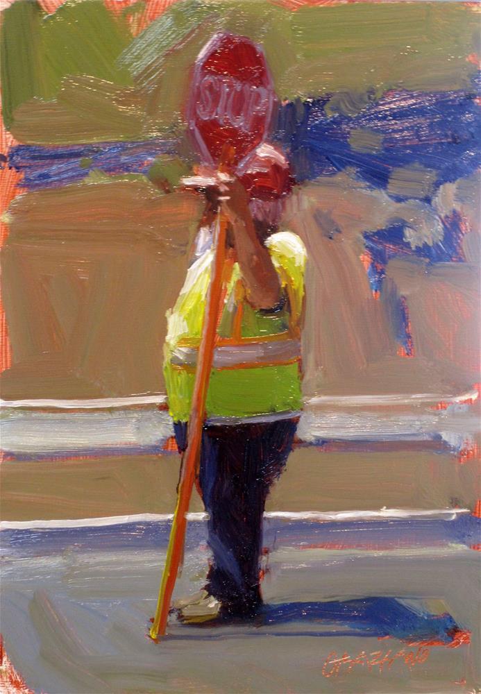 """""""road closed"""" original fine art by Dan Graziano"""