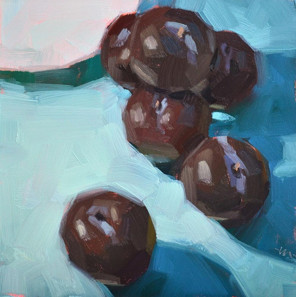 """Tranquil Plums"" original fine art by Carol Marine"