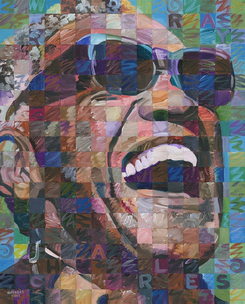 """Ray Charles #2"" original fine art by Randal Huiskens"