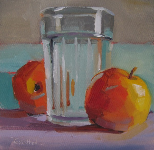 """Apples and Glass"" original fine art by Robin Rosenthal"