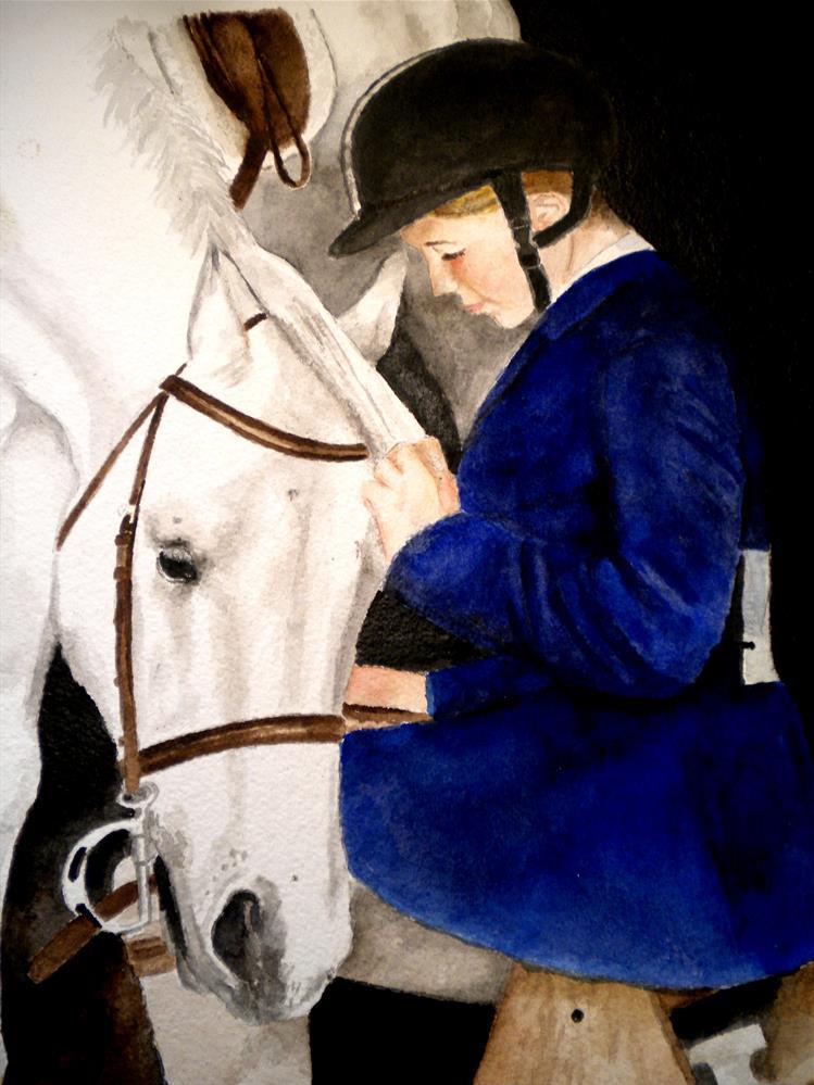 """Bella's Buddy"" original fine art by Hilarie Johnson"