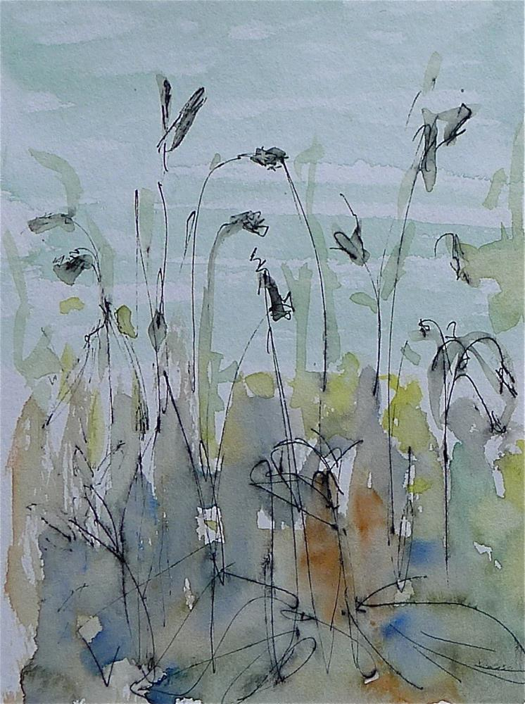 """Grasses on the bank"" original fine art by Ulrike Schmidt"