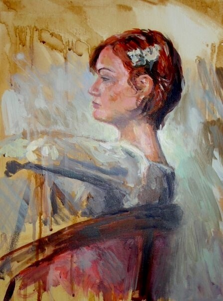 """Stephanie Seated"" original fine art by Allison Doke"
