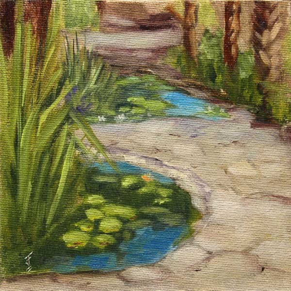 """Mayfield Lily Ponds"" original fine art by Jane Frederick"
