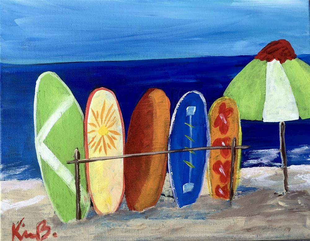 """Surf's Up"" original fine art by Kimberly Balentine"