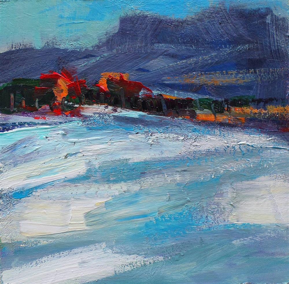 """Snow in the afternoom"" original fine art by salvatore greco"