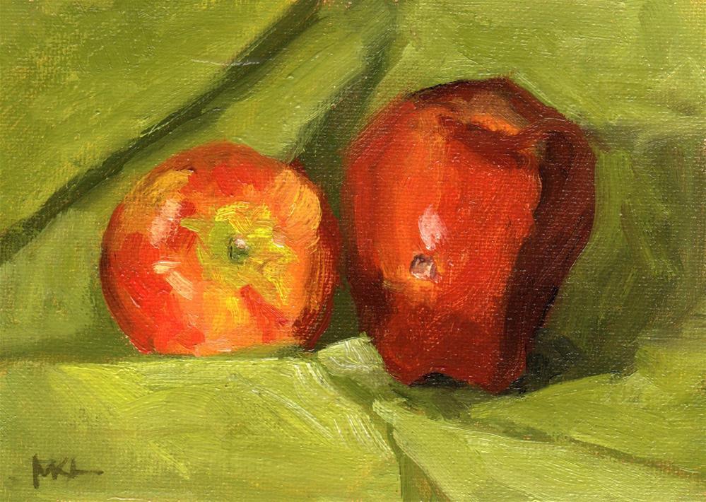 """""""Hole in Apple"""" original fine art by Marlene Lee"""