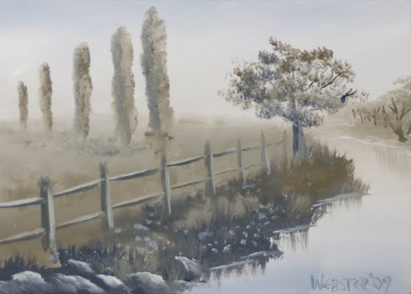 """Mark Webster - Grayscape #8 - Landscape Oil Painting"" original fine art by Mark Webster"