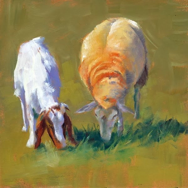 """Besties"" original fine art by Brenda Ferguson"