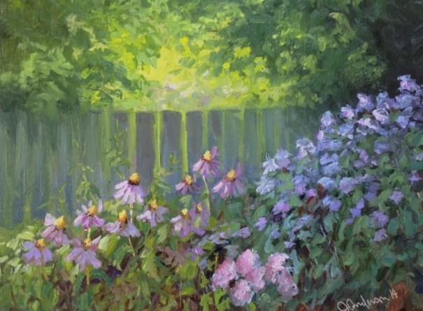 """Boulevard Garden"" original fine art by Judith Anderson"
