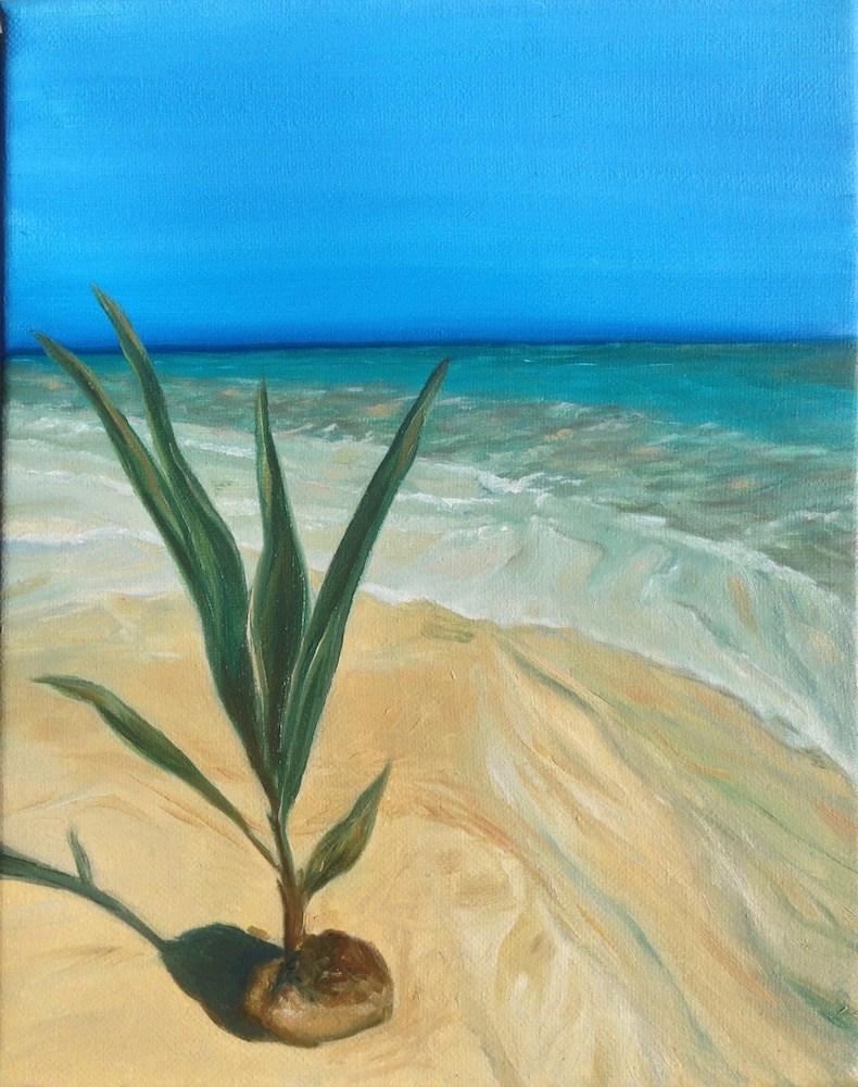 """""""Island Palm"""" original fine art by Karen Stitt"""