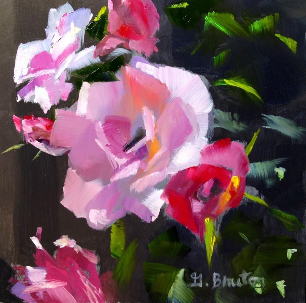 """Rose Bush"" original fine art by Gary Bruton"