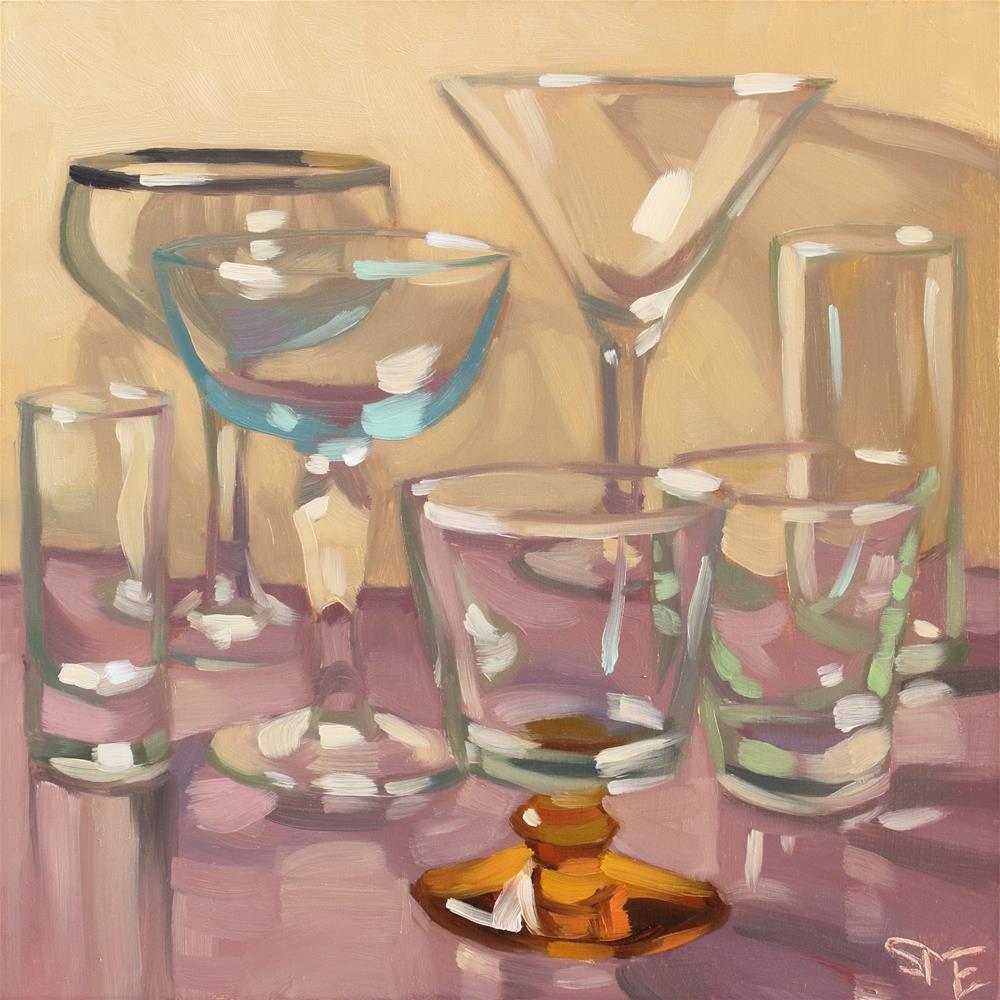 """""""Glass Galore"""" original fine art by Sheila Evans"""