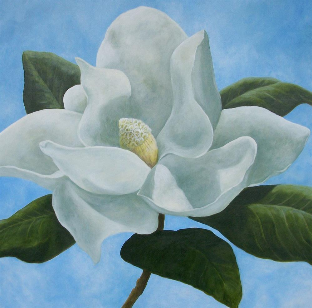"""Magnolia I"" original fine art by Elizabeth Elgin"