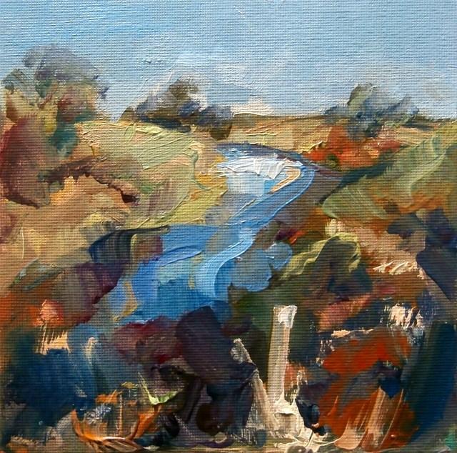 """""""North Side, Till Banks"""" original fine art by Anne Wood"""