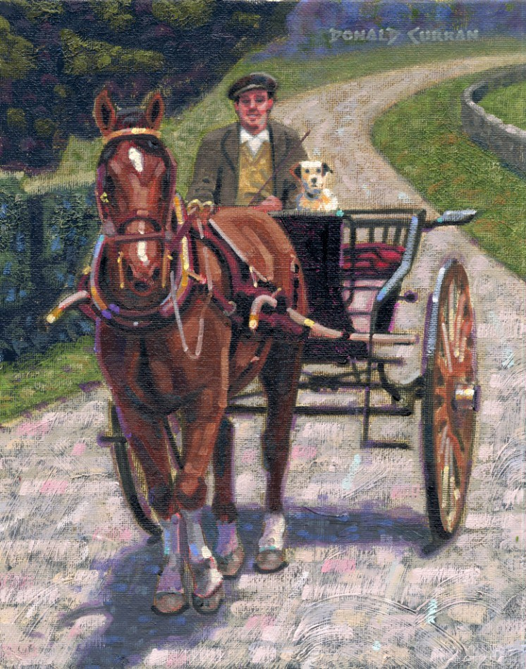 """Out for a Ride"" original fine art by Donald Curran"