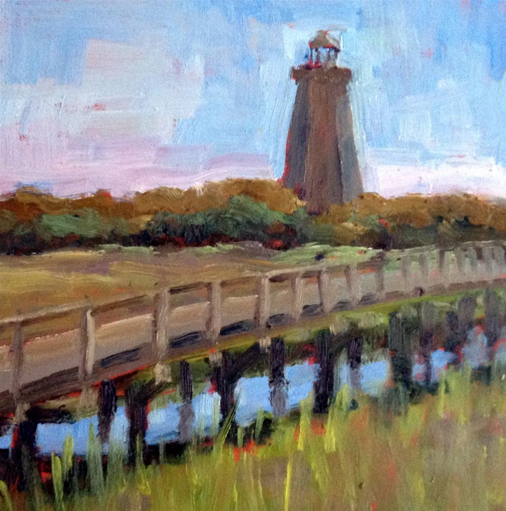 """Bald Head Island"" original fine art by Deborah Newman"