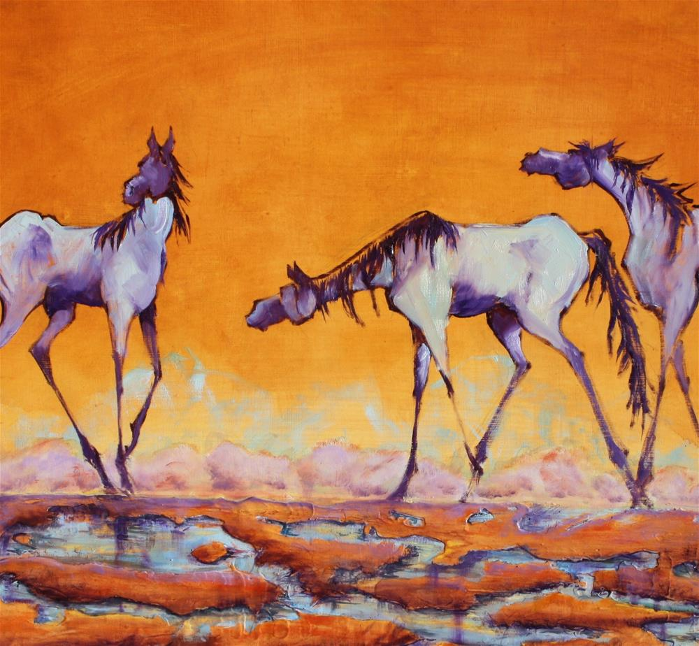 """Finding Friends"" original fine art by Colleen Drury"
