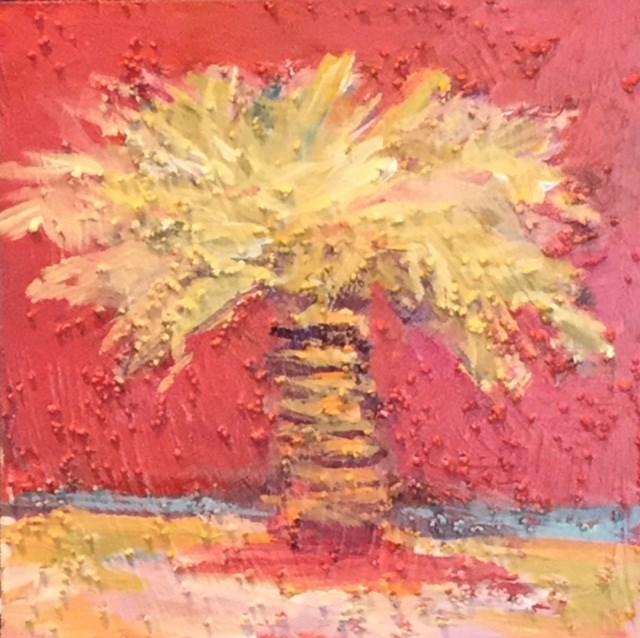 """""""Textured Palm #1,"""" original fine art by Jo-Ann Sanborn"""
