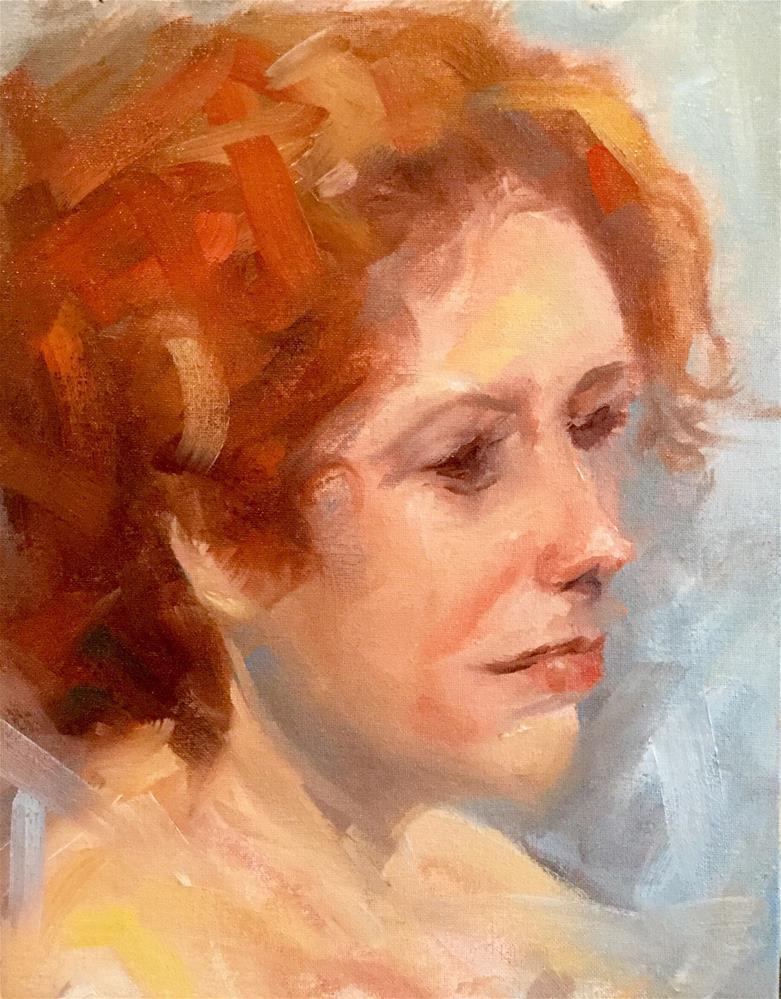 """The Red Head"" original fine art by Sharon Abbott-Furze"