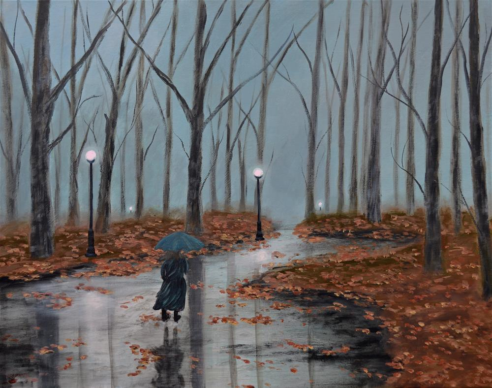"""A Dreary Autumn Evening"" original fine art by Ken Figurski"