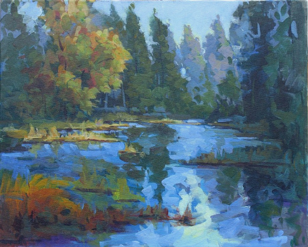 """Sierra Blue"" original fine art by Mary Mulvihill"