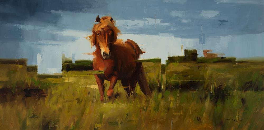 """""""Icelandic Horse 6"""" original fine art by Thorgrimur Andri Einarsson"""