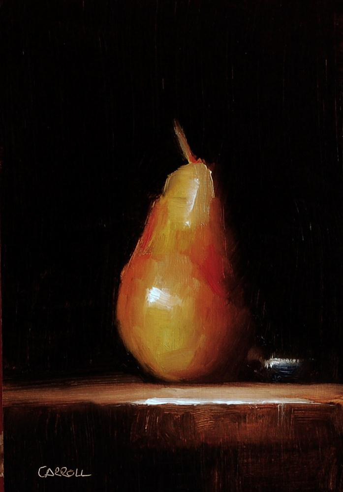 """Pear No.8"" original fine art by Neil Carroll"