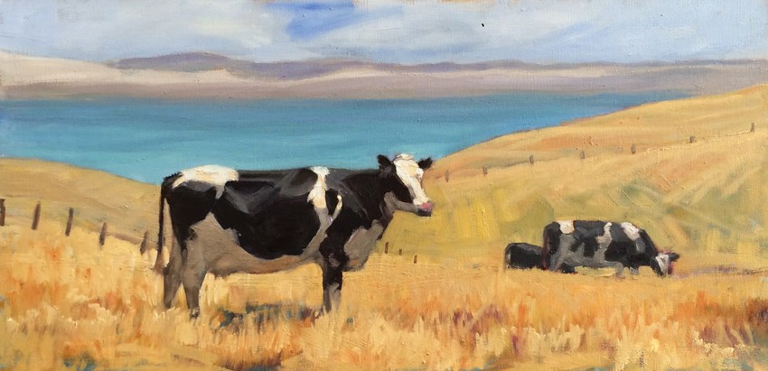 """Contemplating a Walk"" original fine art by Deborah Newman"