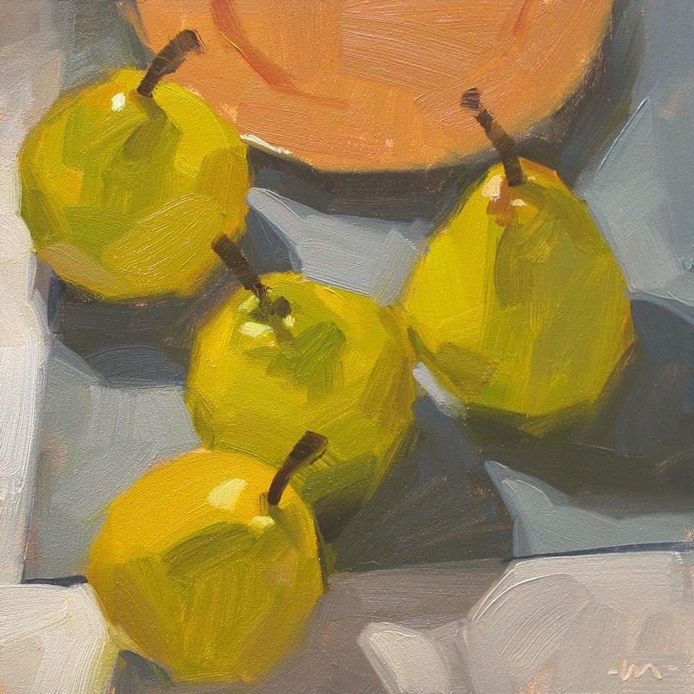 """Aimless Pears"" original fine art by Carol Marine"