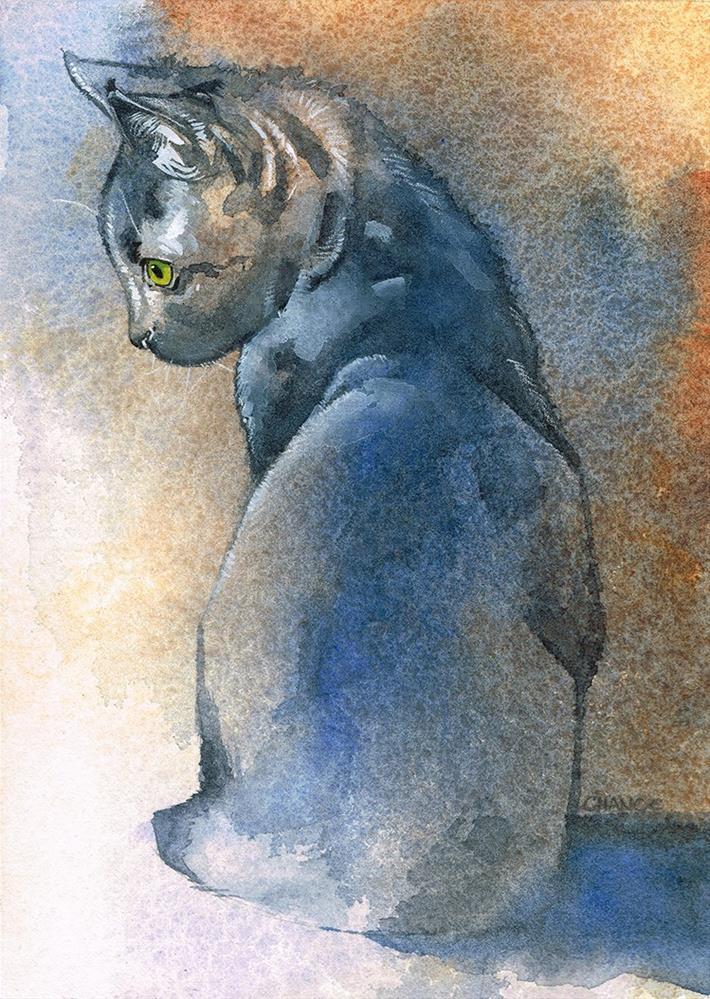"""No. 6 Kitten"" original fine art by Annabel Chance"