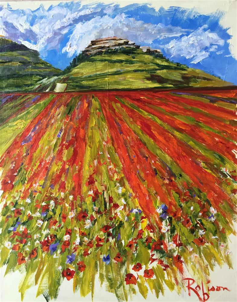 """Wildflowers of Castelluccio"" original fine art by Renee Robison"