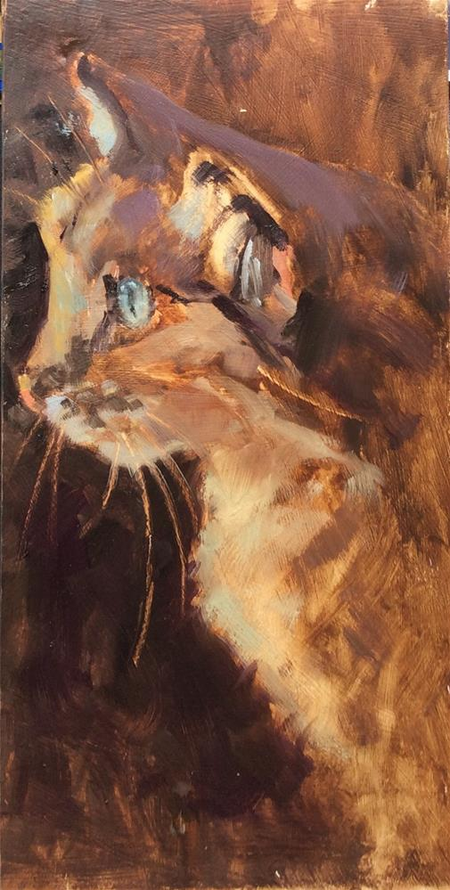 """Pussy"" original fine art by John Shave"